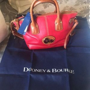 Lightly used red Dooney purse
